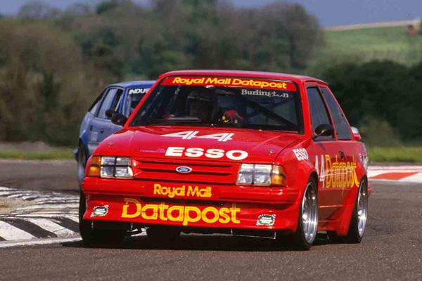 Richard Longman Ford Escort Turbo #44 Thruxton leading BTCC