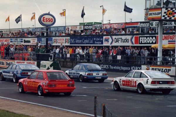 Richard Longman Ford Escort Turbo #44 Silverstone leading BTCC
