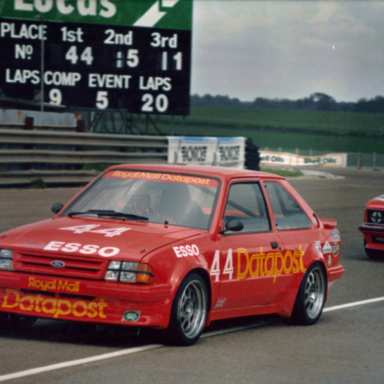 Richard Longman Ford Escort Turbo #44 Thruxton leading BTCC