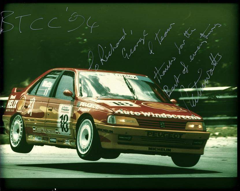 1994 Works Peugeot Super touring car 405 patrick watts, richard longman, longman racing.