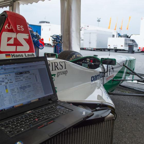 Judd V10, EFI Technology Euro12 ECU, Paddleshift, AIM Data, Longman Racing track support, hockenheim, F1.