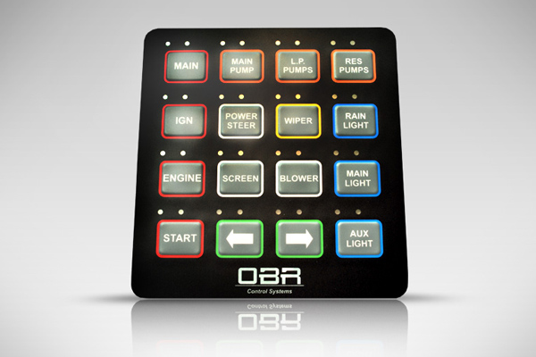 OBR Control Systems CAN Switch Panel, MSP, Custom CAN bus