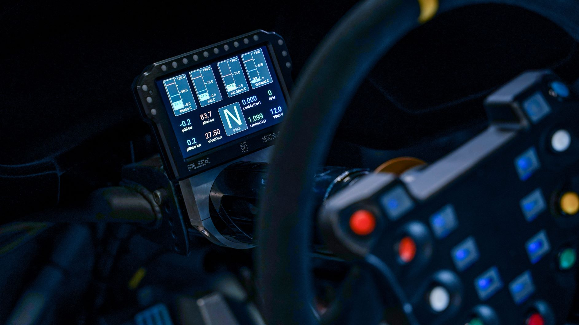 Plex Tuning SDM 550 datalogger, FIA R4 motorpsort electronics supplied by Longman Racing